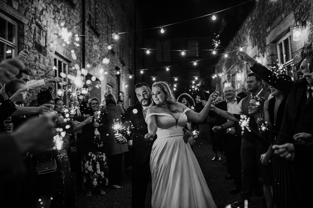 Sparkler exit at Holmes Mill Holmes Mill wedding phootgraphy